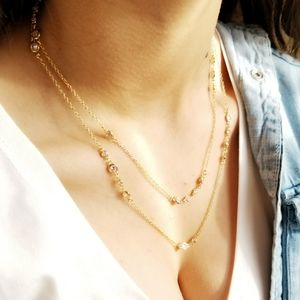 Jewelry - Dainty Delicated 18K Gold Plated CZ Necklace NEW